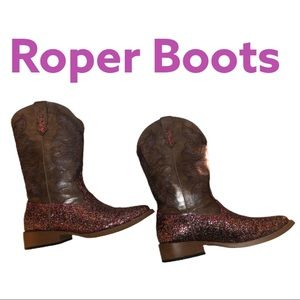 Roper Bling Square Toe Riding Boot